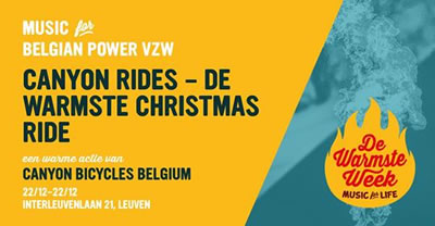 Canyon Rides - De Warmste Christmas Ride  op 22 december 2018