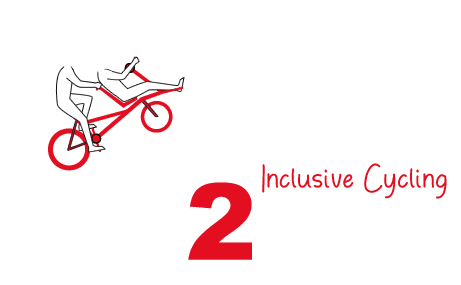 Het logo van join2bike: join2bike - inclusive cycling
